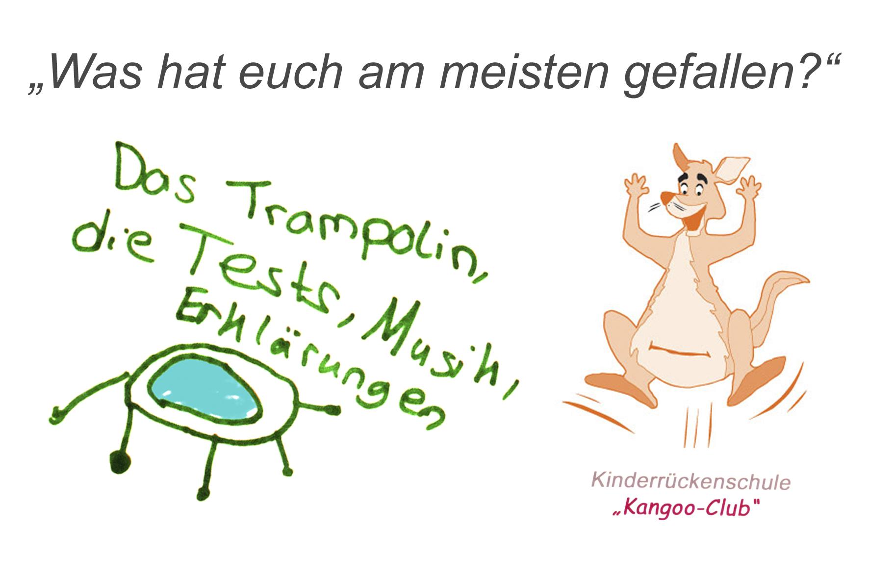 """Die Meinung der Kinder zur Kinderrückenschule """"Kangoo Club"""""""
