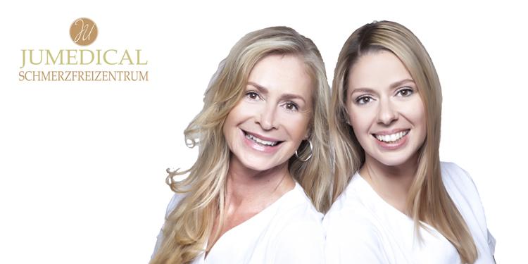 Brigitte Jocher (li.) und ihre Tochter Stephanie Ulrich (re.) haben mit ihrer Praxis JUMEDICAL den Anspruch den Menschen nachhaltig zu helfen.